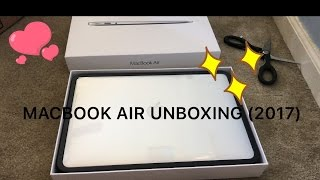 UNBOXING MY MACBOOK AIR (2017)