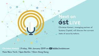 OST LIVE #057: The State Of Security Tokens