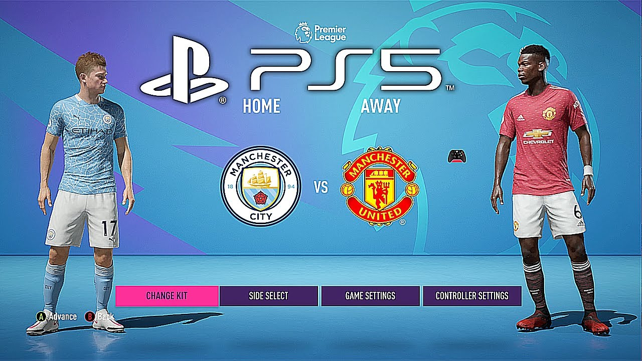 FIFA 21 PS5 MANCHESTER UNITED - MANCHESTER CITY   MOD ...