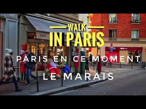 🇫🇷 WALK IN PARIS ( LE MARAIS ) 19/12/2020 PARIS 4K