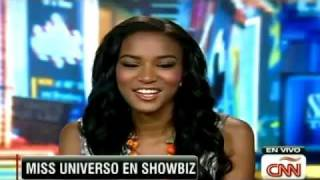 Leila Lopes CBS New York Interview Miss Universo 2011