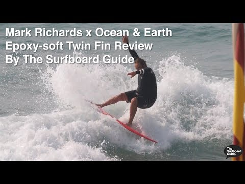 Mark Richards / Ocean & Earth Epoxy Twin Fin Softboard + FCS MR Review - The Surfboard Guide