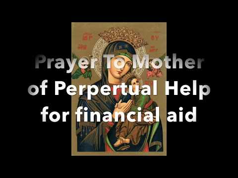 Prayer to Mother of Perpetual Help for Financial Aid