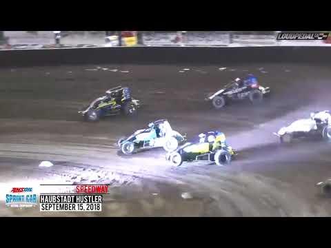 "USAC ""Haubstadt Hustler"" Sprint Car Highlights | Tri-State Speedway 9.15.18"
