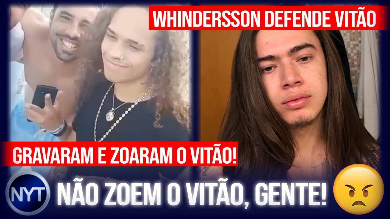 @whinderssonnunes defende @VITÃO após cantor ser constrangido por 3 caras em vídeo