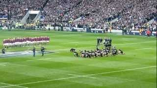 NZ Haka drowned out by Swing Low at Twickenham