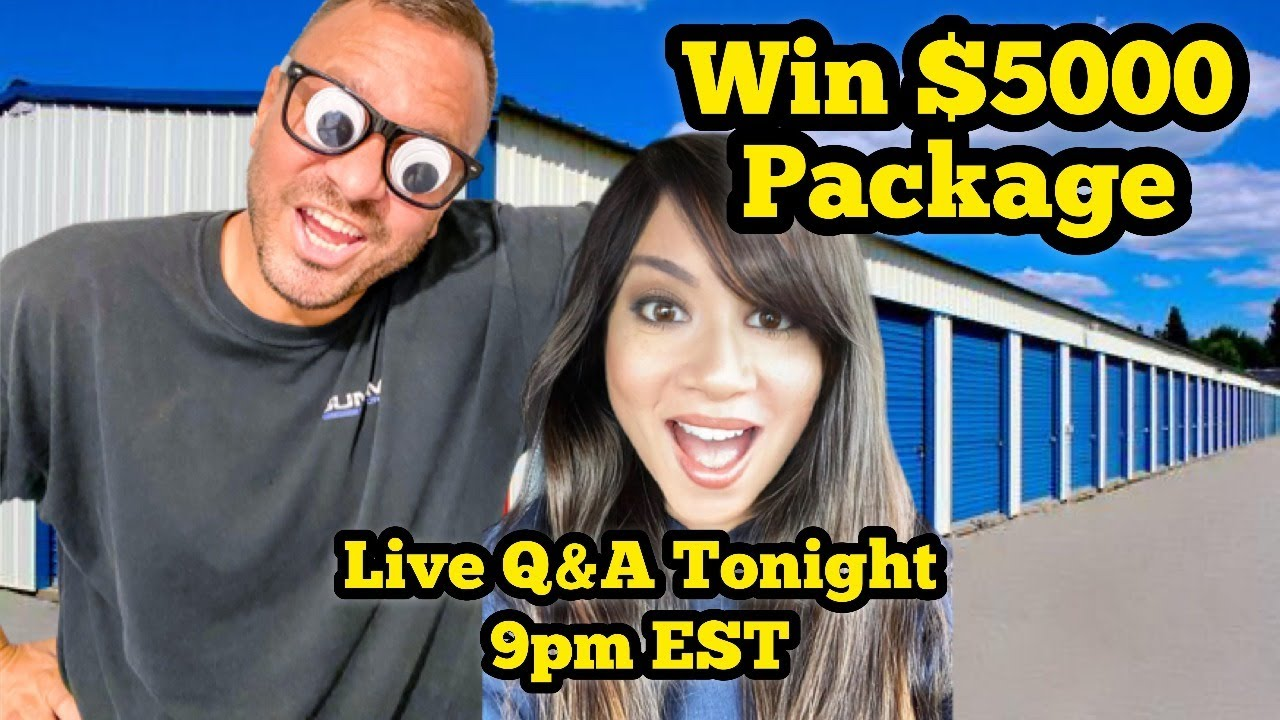 Win $5000 Package Announcement: Hale$ Answer YOUR Questions On Abandoned Storage Unit Auctions