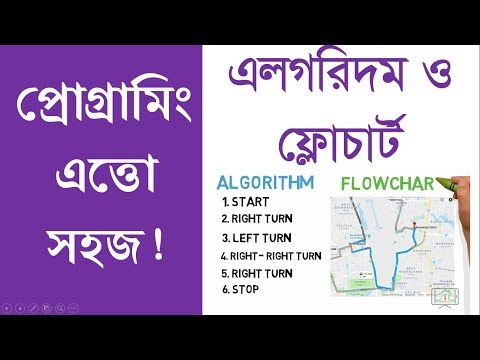 Algorithm and Flowchart Bangla Understand Easily    Very Easy Computer Programming! Part-02