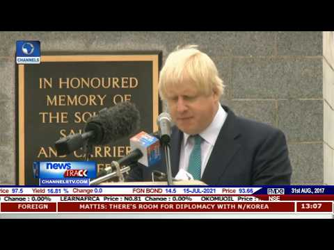 Johnson Pays Tribute To Nigeria's Fallen Heroes