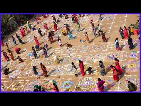 RANGOLI-Rangavalli-New Year-Sankranthi-Competition-Colours-Rainbow-Nagender
