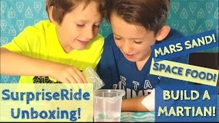 Tech-Free Kids' Activities! Surprise Ride Unboxing & Science Experiments 👽 MARS SAND & SPACE FOOD!