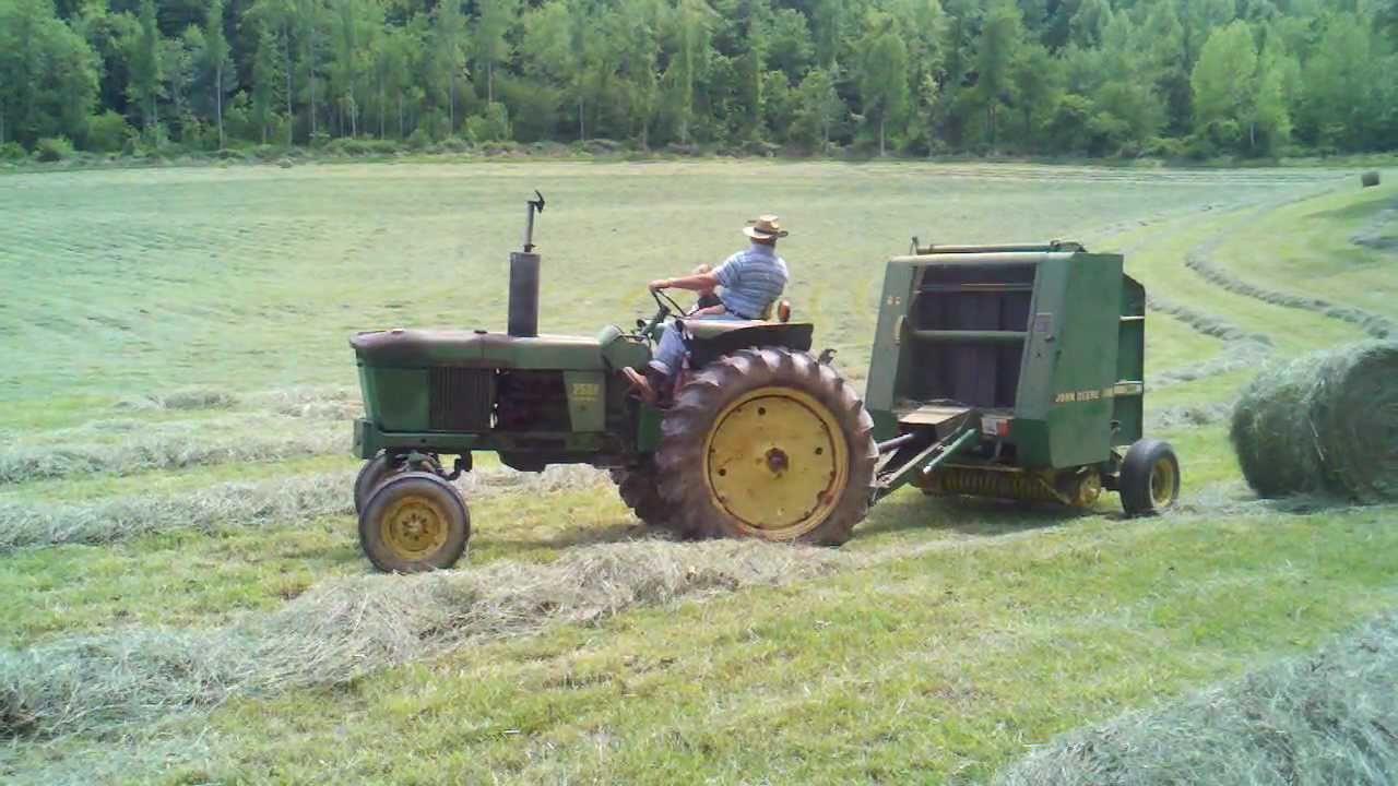 605c vermeer round baler good or bad - Luke And Papa Rolling Hay With The John Deere 2520