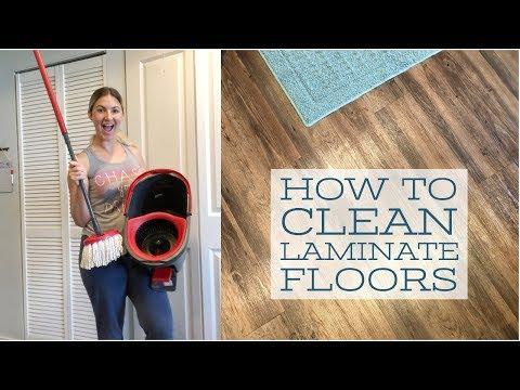 HOW TO CLEAN LAMINATE FLOORS   O'CEDAR MICROFIBER MOP REVIEW