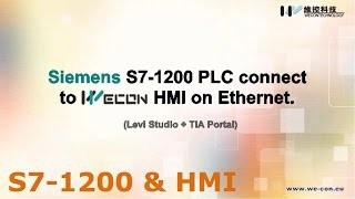 Siemens S7-1200 with We-Con HMI Ethernet connection