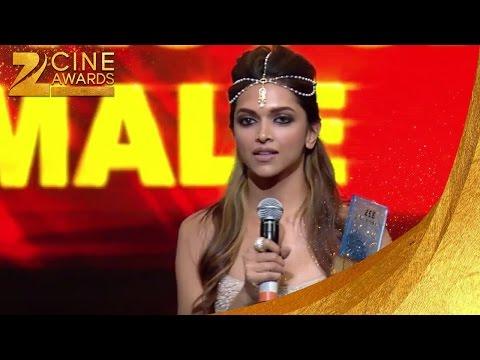 Zee Cine Awards 2014 Best Female Actor Deepika Padukone