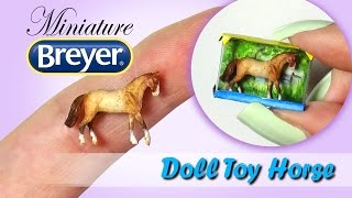 Miniature Breyer Horse Tutorial // DIY Doll Toy Horse