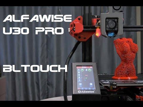 Хороший обдув для Alfawise U30 Pro и настройка Bltouch (3Dtouch)