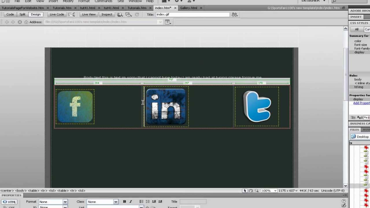 Dreamweaver Tutorial: How to Insert Images Wherever You Want Using ...