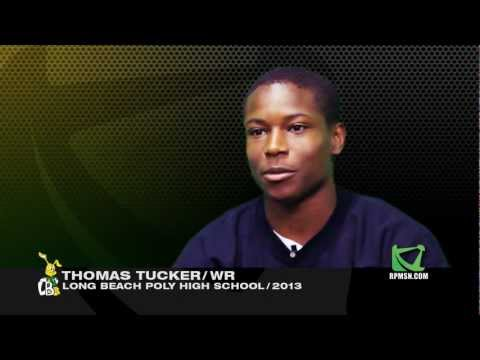 Thomas Tucker class of 2013 Studio Interview - Long Beach Poly WR