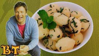 Самый вкусный молодой картофель с мятой по рецепту Джейми Оливера. Идеальный гарнир для гурмана.