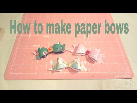 How to make a paper bow using a template   Planning With Eli