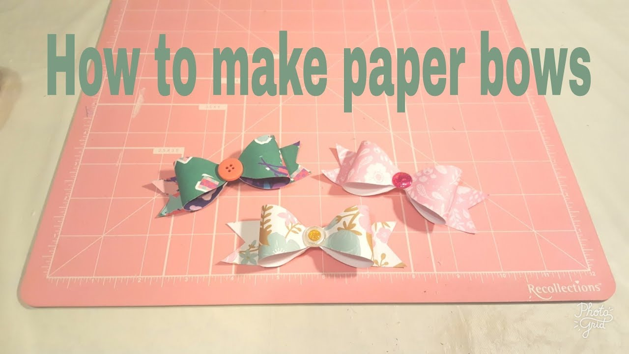 How To Make A Paper Bow Using A Template Planning With Eli Youtube