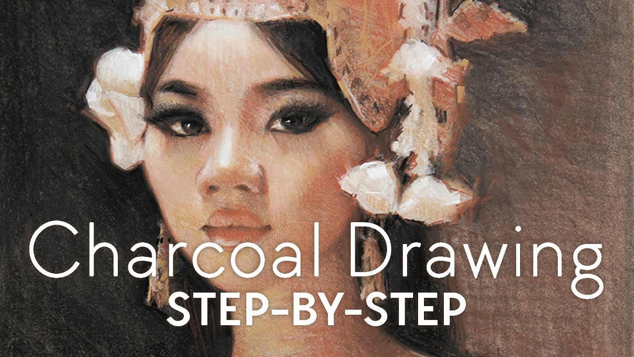 Charcoal drawing step by step alain j picard