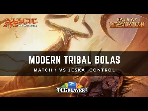 [MTG] Modern Tribal Bolas | Match 1 VS Jeskai Control