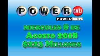 Gambar cover Resultados Powerball 8 de Agosto 2018 $223 Millones de dolares Powerball en Español