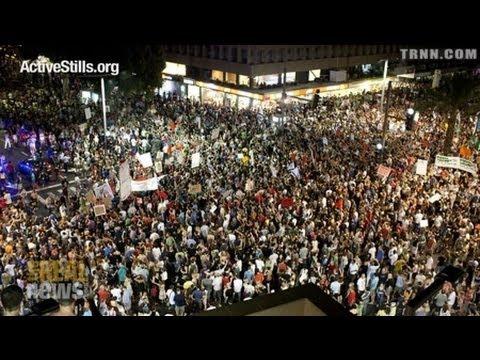 """Israelis Chant: """"Mubarak, Assad, Bibi Netanyahu"""""""