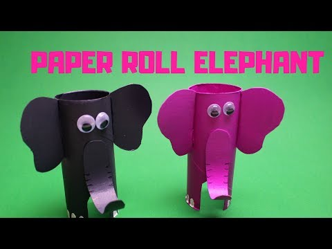 How to Make a Paper Roll Elephant | Paper Roll Craft