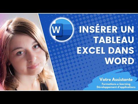 Insérer un tableau Excel dans un document Word
