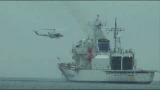 Japan Coast Guard PLH22 Yashima and Bell212 (Rescue training)