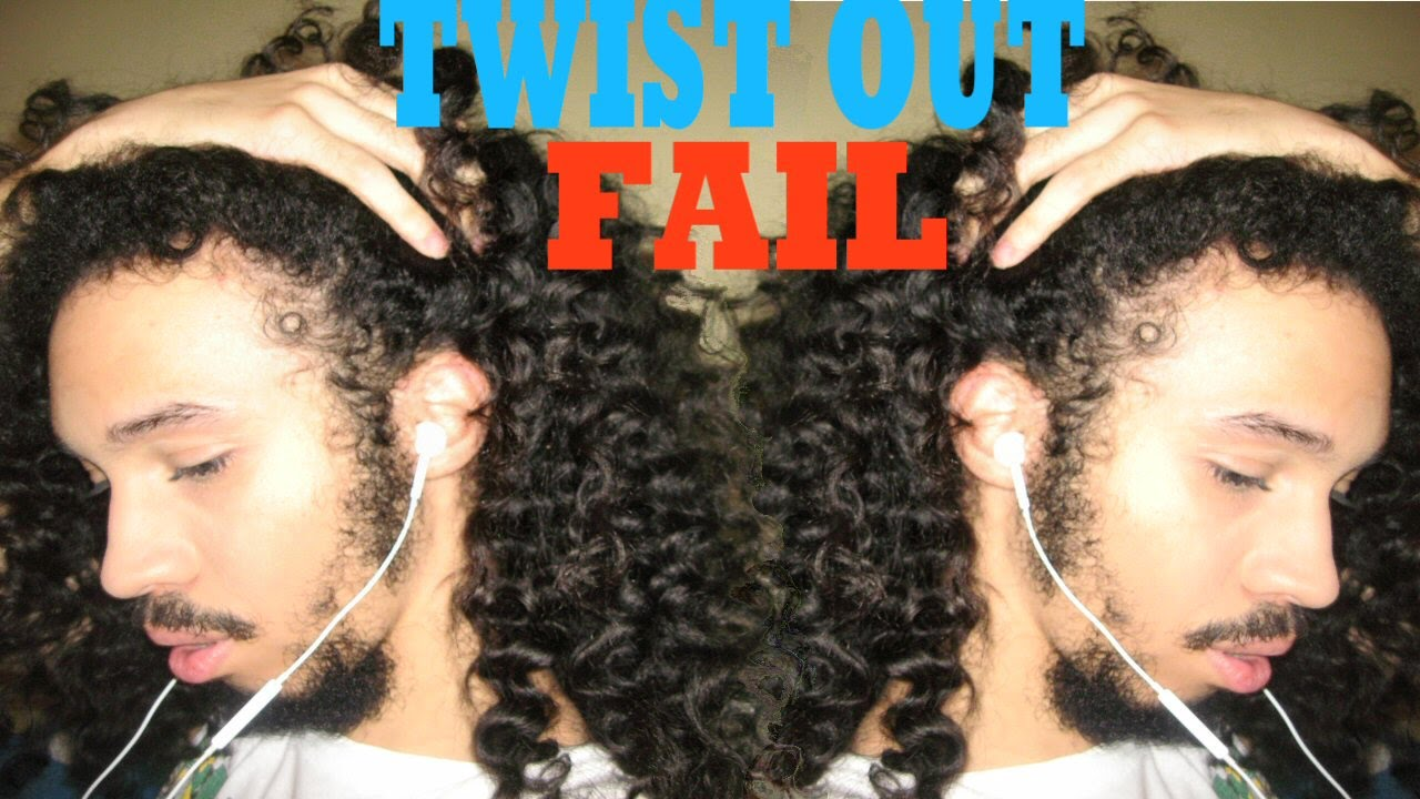 twist out fail: men with 3b hair type