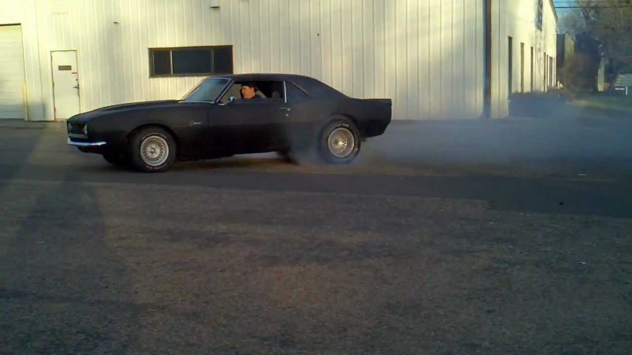 Flat Black 1968 Camaro Burnout Youtube