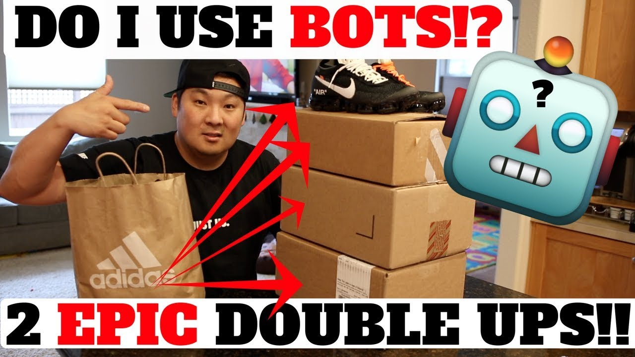 DO I USE BOTS?! 2 EPIC SNEAKER DOUBLE UPS (YEEZY / OFF-WHITE!)! + ADIDAS  EMPLOYEE STORE