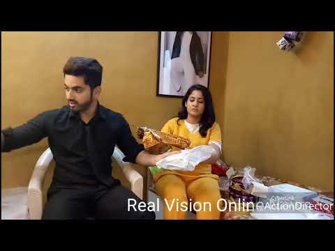 Zain Imam and Aditi Naamkaran Adiza Avneil uncut exclusive gifts segment @ Real Vision Online News