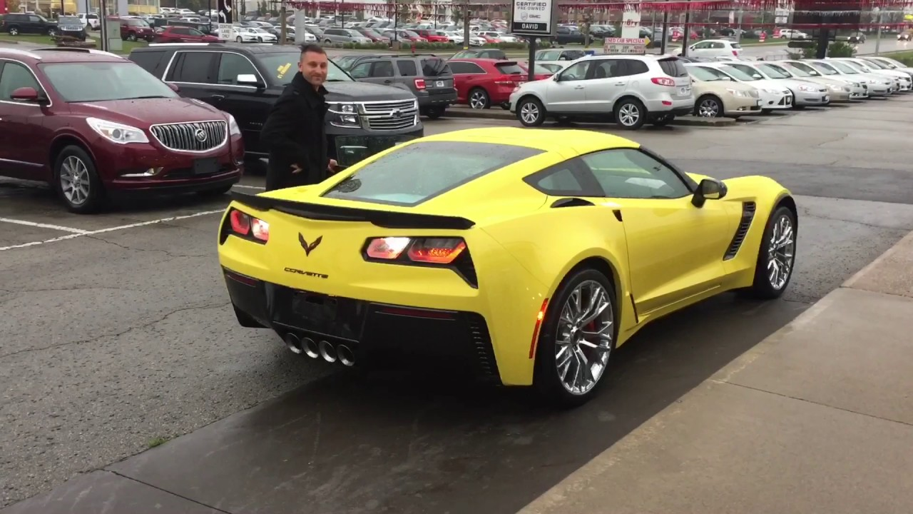 2017 corvette z06 in yellow youtube. Black Bedroom Furniture Sets. Home Design Ideas