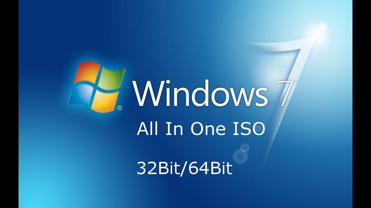 Windows 7 All in One 32 / 64 Bit Jan 2019 Free Download