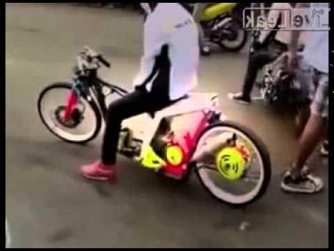fastest motorcycle drag by girls in Palembang