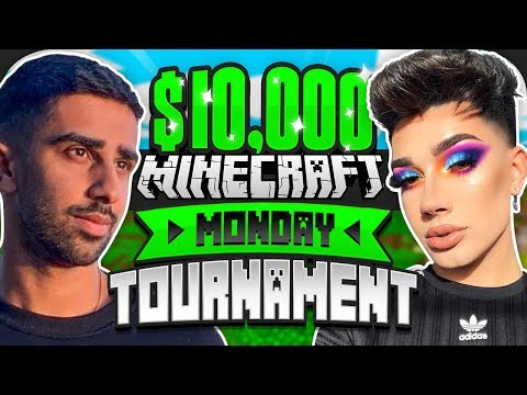 $10000 MINECRAFT Monday Tournament w James Charles Week 3