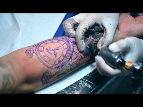 Time Lapse Reloj Y Numeros Cleyviton Tattoo Youtube