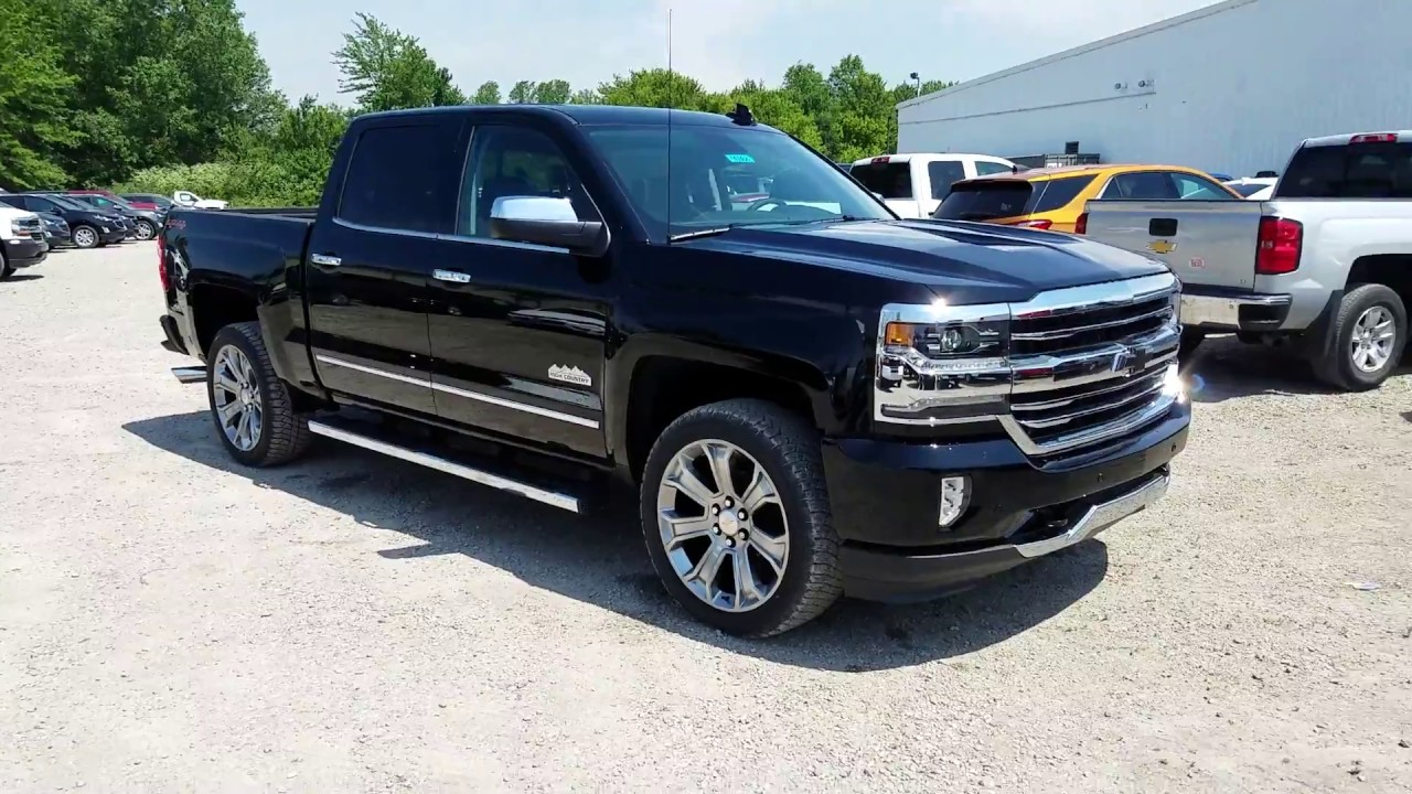 2017 chevy silverado 1500 high country jet black intro youtube. Black Bedroom Furniture Sets. Home Design Ideas