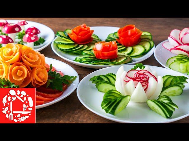 Изображение 5 СУПЕР СПОСОБОВ Украшения Овощами на Праздничный стол. Как красиво нарезать Овощи