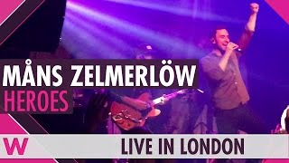 "Måns Zelmerlöw ""Heroes"" LIVE @ O2 Academy Islington in London"