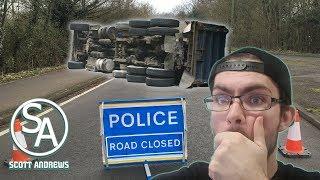 Truck Crash Closed The Road