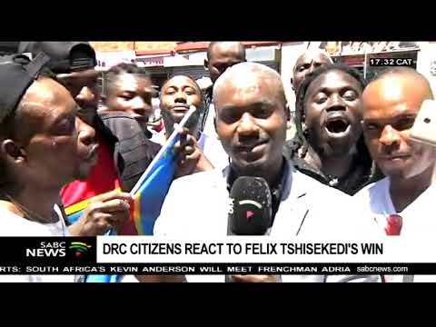 DRC nationals in SA react to Tshisekedi's win
