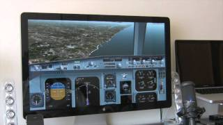 "Testing X-Plane 9 on a MacBook Pro with Apple 27 ""LED Cinema Display"