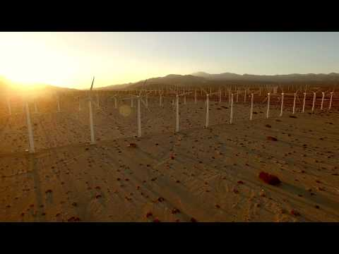 Palm Springs Wind Turbines Shot with DJI Phantom 3 Pro in 4k