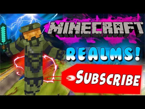 MINECRAFT REALMS FREE TO JOIN OPEN SURVIVAL WORLD!!!!